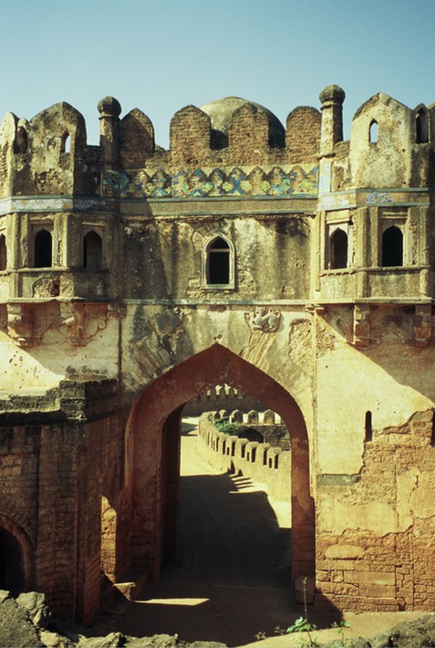 Bidar Fort Rangin Mahal entrance 2