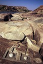 Hampi96 lingas by river2